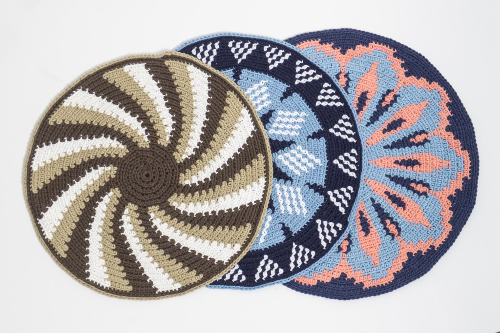 Placemats set of Four -   Samples made with cotton yarn